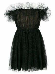 Giambattista Valli off the shoulders ruffled dress - Black