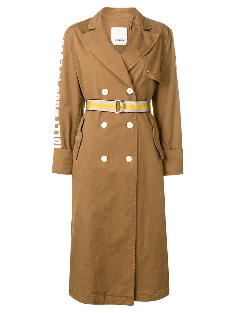 Pinko belted trench coat - Brown