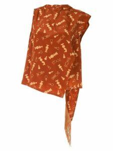 Karen Walker Vernon blouse - Red