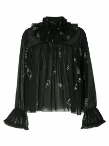 Karen Walker Bad Bishop blouse - Black