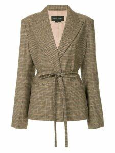 Karen Walker Vera Tie blazer - Brown