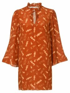 Karen Walker Spielmann dress - Orange
