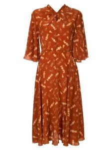 Karen Walker Queen's Bishop dress - Red