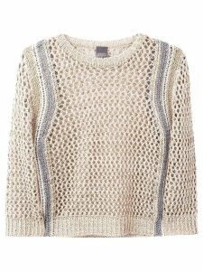 Lorena Antoniazzi open knit jumper - Neutrals