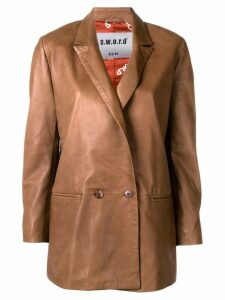 S.W.O.R.D 6.6.44 double breasted blazer - Brown