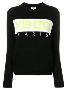 Kenzo contrast logo sweater - Black