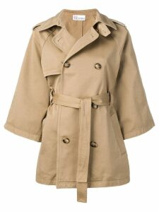 Red Valentino double breasted trench coat - Neutrals