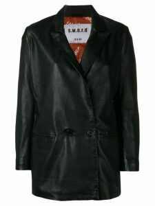 S.W.O.R.D 6.6.44 double breasted blazer - Black