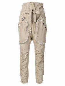 Faith Connexion paper-bag waist trousers - Neutrals