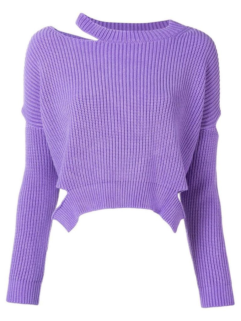 Pinko cut-out knitted sweater - Purple