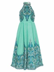 Zimmermann high-neck sleeveless corduroy midi dress - Blue