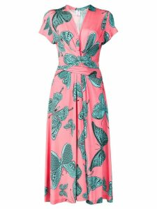Ultràchic butterfly print wrap dress - Pink