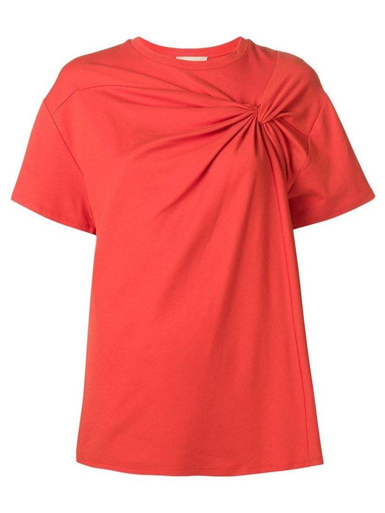 Erika Cavallini twisted-front blouse - Orange