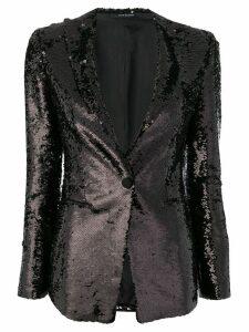 Tagliatore sequin blazer - Black