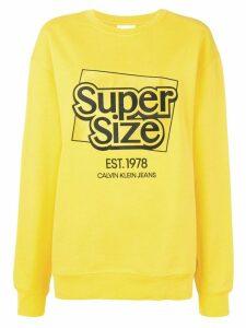 Calvin Klein Jeans Est. 1978 logo slogan print sweatshirt - Yellow