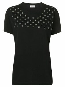 Red Valentino eyelet embellished T-shirt - Black