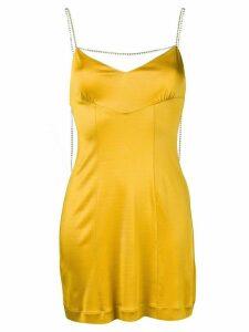 Alexa Chung crystal-embellished dress - Yellow