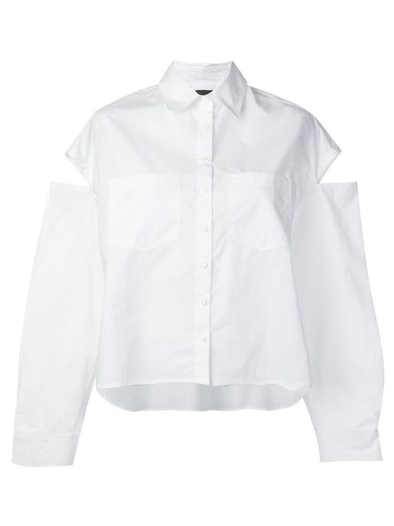 Andrea Ya'aqov cut-out detail shirt - White