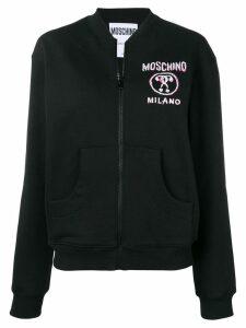 Moschino logo print bomber jacket - Black