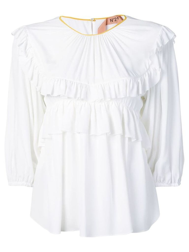 Nº21 frill-trim blouse - White