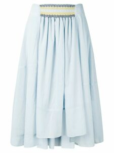 Loewe high-rise flowing skirt - Blue