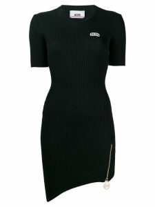 Gcds ribbed fitted dress - Black