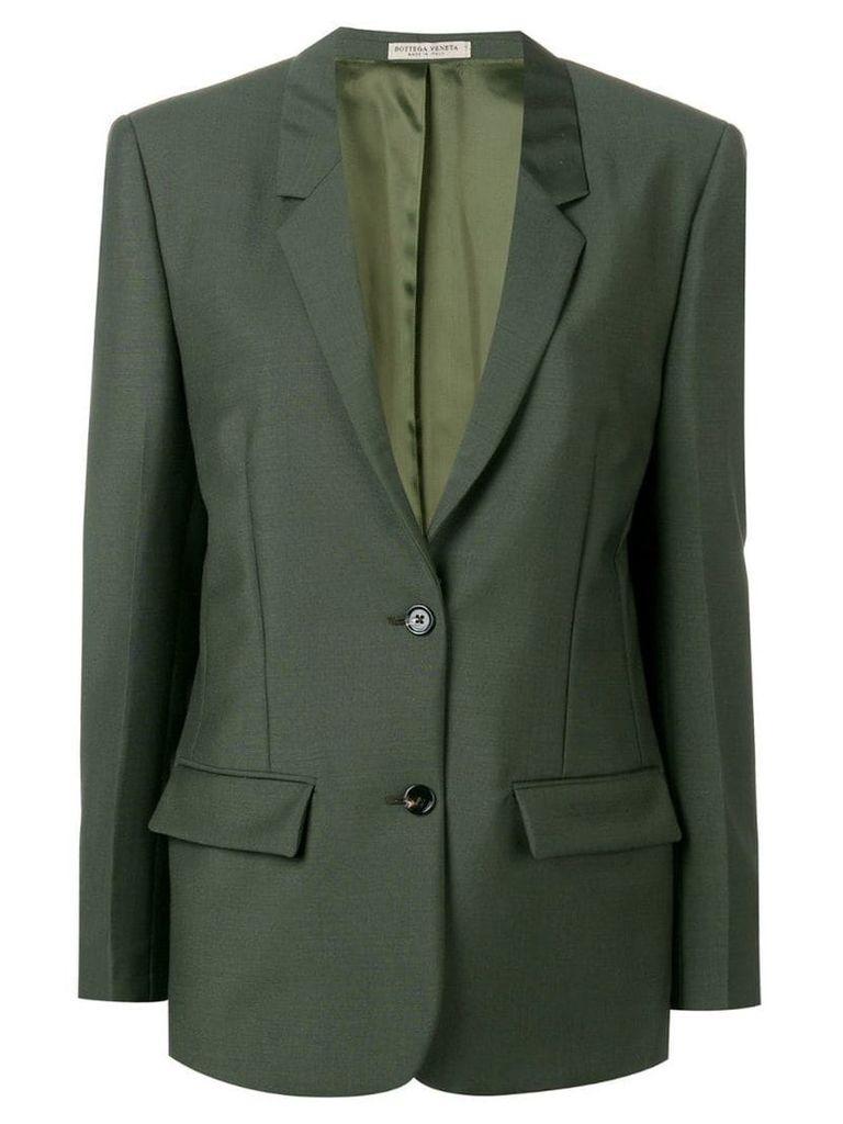 Bottega Veneta single breasted blazer - Green