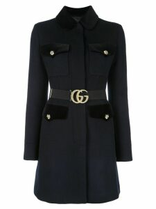 Gucci belted coat - Blue
