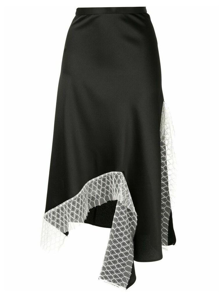 Christopher Esber lattice lace dual split skirt - Black