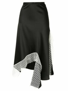 Christopher Esber lattice lace dual split skirt - Black