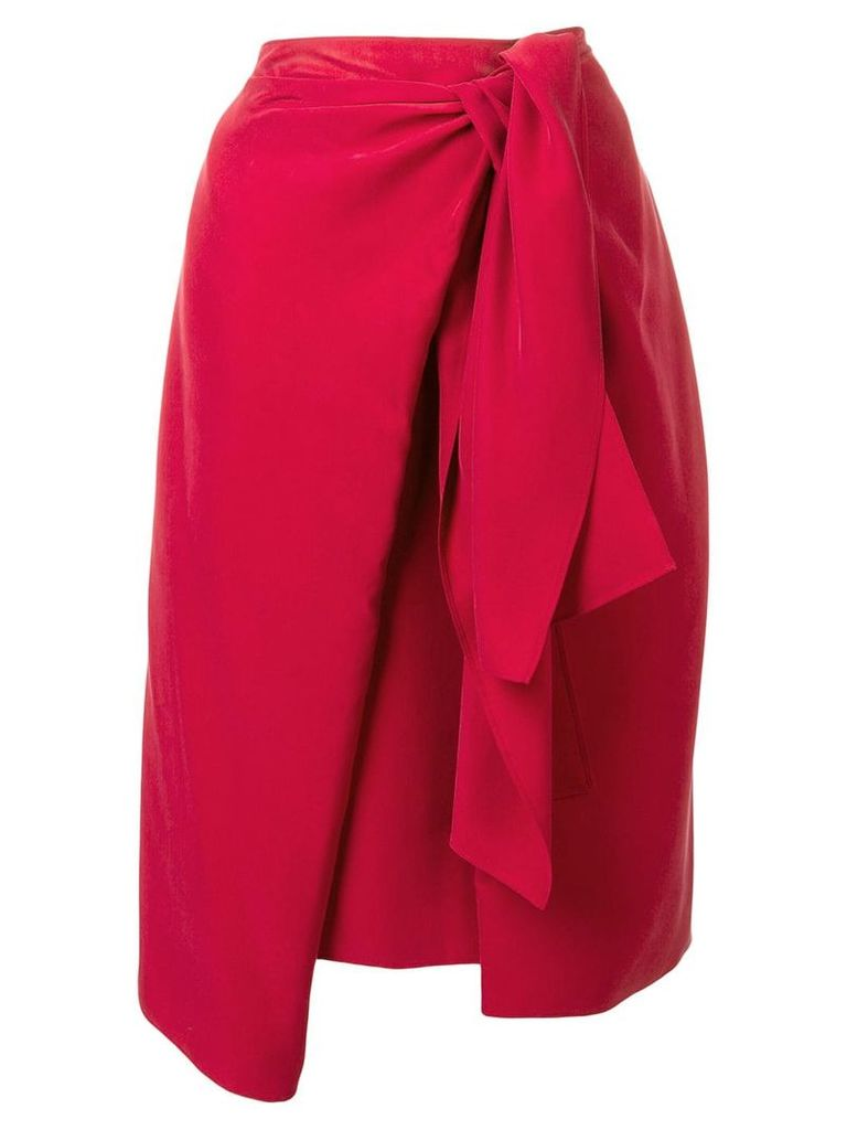 Joseph side knot skirt - Red