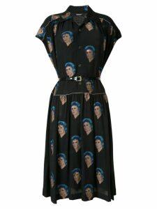 UNDERCOVER Bowie print shirt dress - Black