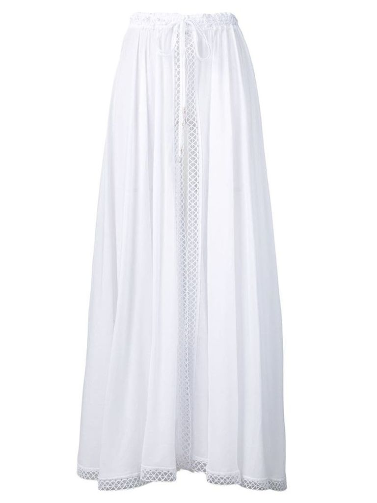 Charo Ruiz lace trimmed open skirt - White