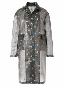 Undercover sheer emoji coat - Grey