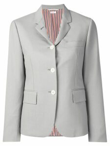 Thom Browne Dyed Mohair Narrow Sport Coat - Grey