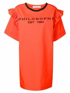 Philosophy Di Lorenzo Serafini logo print T-shirt dress - Orange
