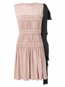 Nº21 frilled design dress - Pink
