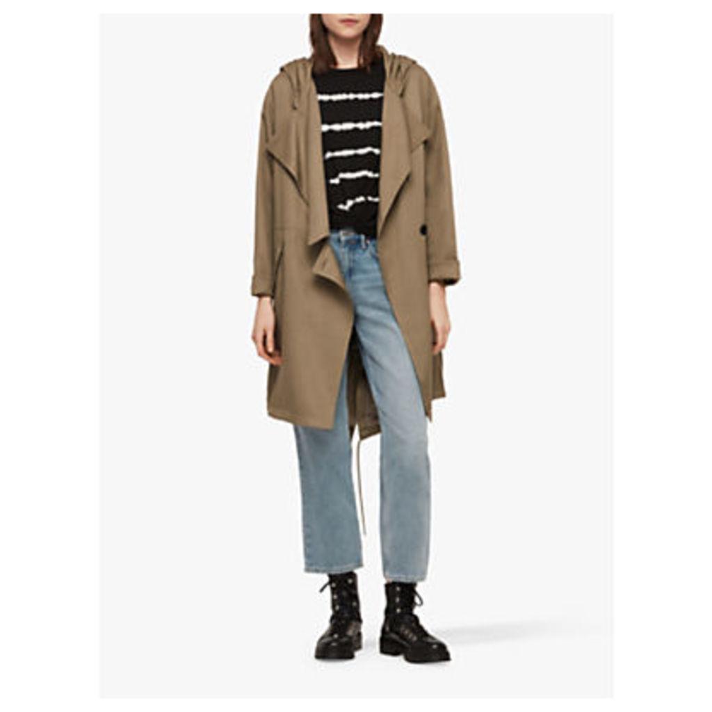 AllSaints Bexley Parka Coat, Sage Green