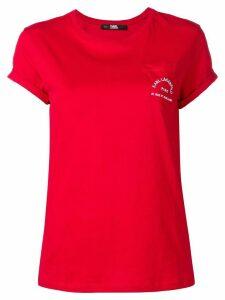Karl Lagerfeld chest pocket T-shirt - Red