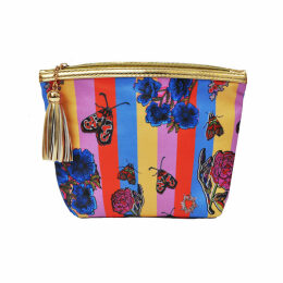 Jessica Russell Flint - Vegan Classic Make Up Bag: Circus Stripe With Gift Box