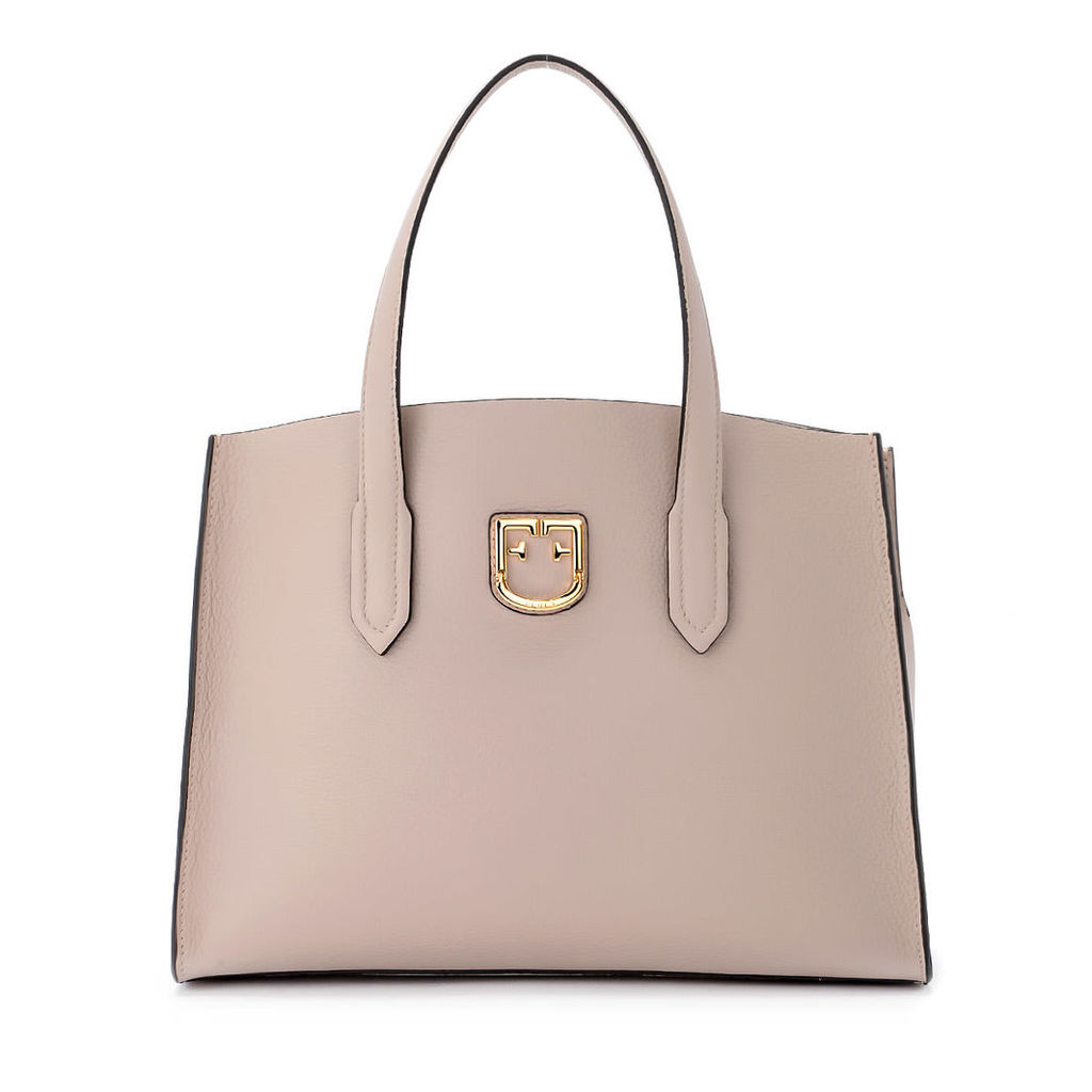 Furla Lodovica M Pink Tumbled Leather Handbag