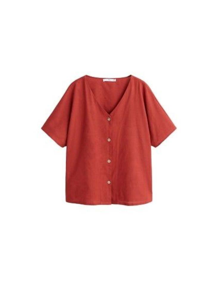 Buttoned cotton shirt