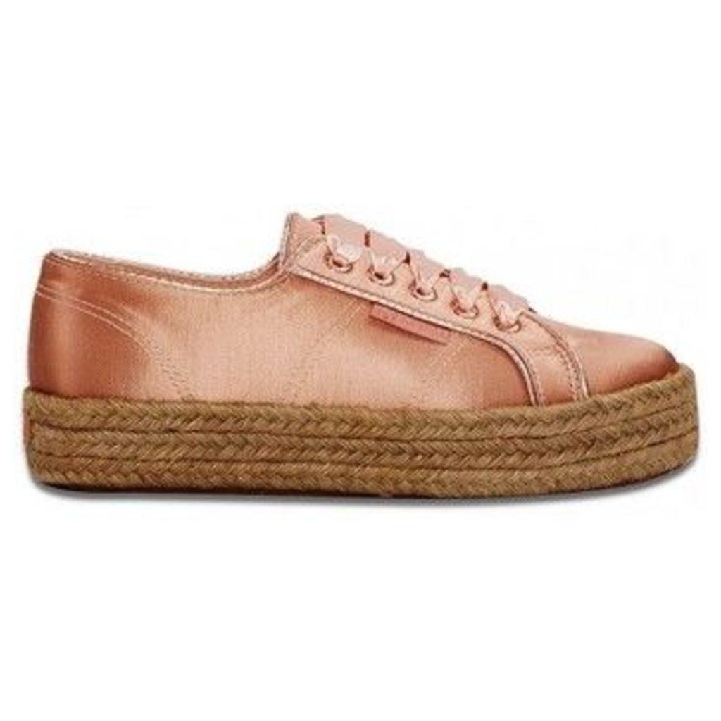 Superga  Satincotmetropew Dusty Rose  women's Espadrilles / Casual Shoes in Pink