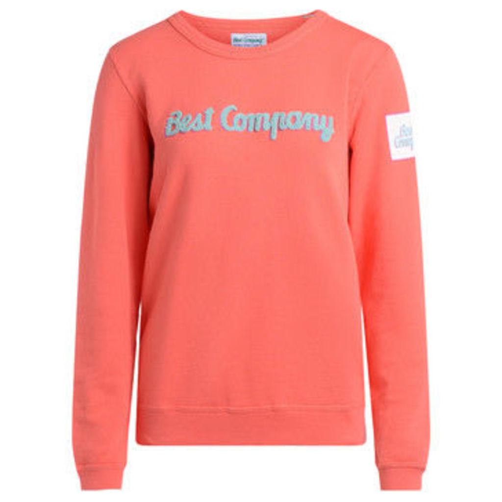 Best Company  roundneck lobster cotton fleece.  women's Sweatshirt in Orange