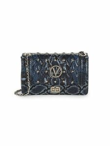 Alice Studded Python-Embossed Leather Crossbody Bag