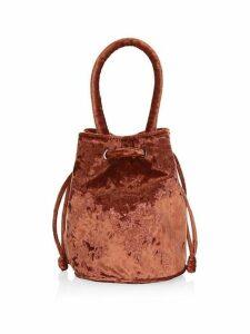 Jesmyn Crushed Velvet Bucket Bag