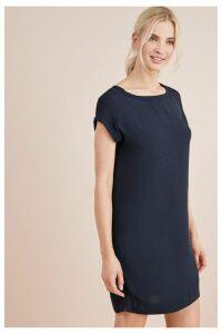 Womens Next Navy Woven Boxy T-Shirt Dress -  Blue
