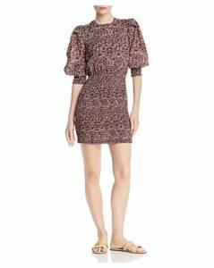 Rebecca Minkoff Tabby Micro-Floral Mini Dress