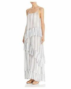 Atm Anthony Thomas Melillo Striped Maxi Slip Dress
