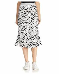 Atm Anthony Thomas Melillo Cheetah-Print Silk Skirt